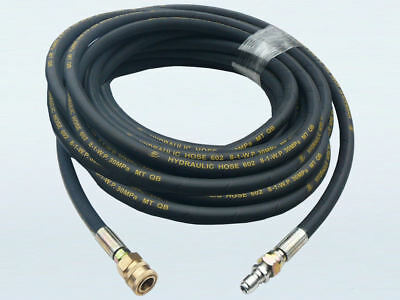 """4350psi Heavy Duty Wired Braided Pressure Washer Hose - 30m, 3/8"""" Quick Connect"""