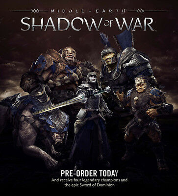 Xbox One Middle Earth: Shadow of War Legendary Champions & Dominion Sword DLC