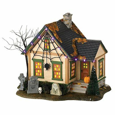 Department 56 Halloween The Spider House Trick or Treat Lane RETIRED New