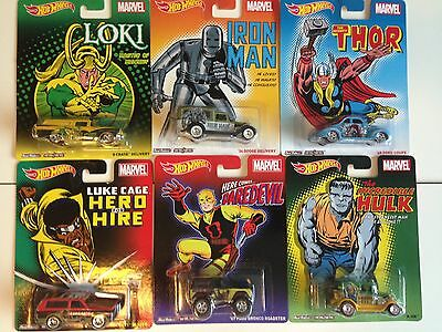 Genuine Hot Wheels Marvel Comics Silver Age Covers - Full Set Of Six - Sealed