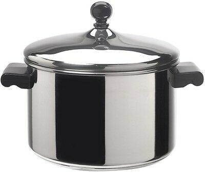 Farberware Classic Series 4 Qt. Stainless Steel Sauce Pot With Lid Cookware New