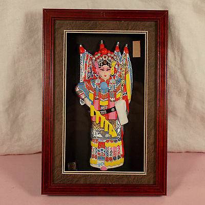 Chinese Mu Guiying Picture Dressed As Daomadan In Shadow Box