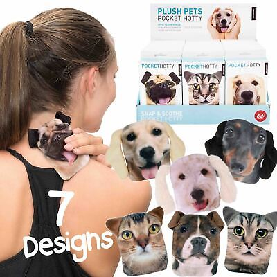POCKET HOTTY Cats/Dogs Soft Touch Case Pocket Reusable Hand Warmer FREE DELIVERY