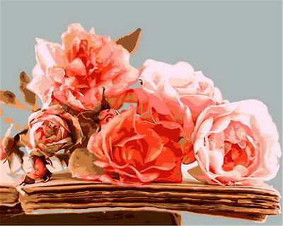 """Flowers 16X20"""" Paint By Number Kit DIY Acrylic Painting on Canvas SPA1739"""