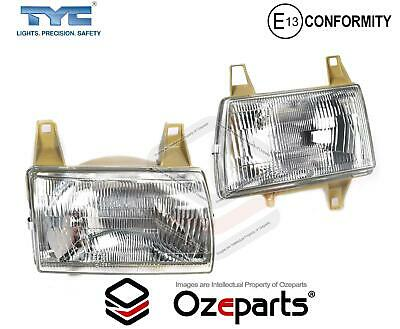 Pair LH+RH Head Light Lamp For Ford Courier PD 96~98 / Mazda Bravo UF 96~99 Ute