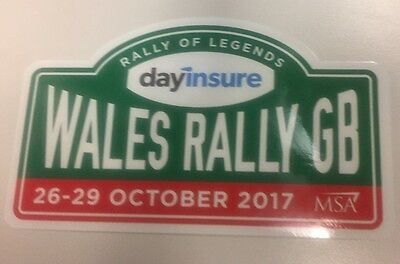 2017 2017 !!!!!! Wales Rally Gb  Official Sticker