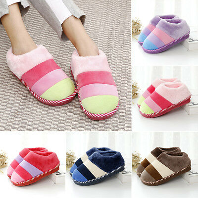Women Winter Warm Anti-slip Slippers Sandal Ladies Home Indoor Soft Plush Shoes