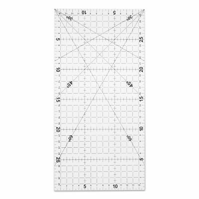 Quilting Sewing Patchwork Foot Aligned Ruler Grid Cutting Tailor Craft Scale
