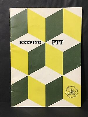 Vintage Book KEEPING FIT from The Commonwealth Council for National Fitness 1967