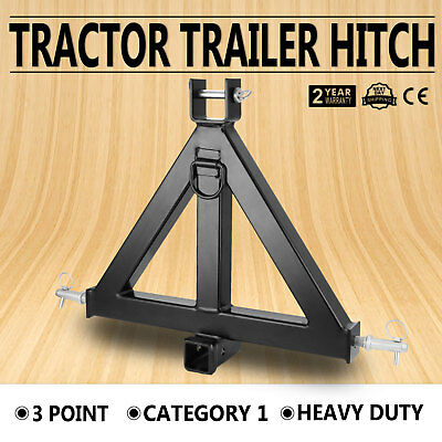 HEAVY DUTY 3POINT 2 RECEIVER TRAILER HITCH CATEGORY 1 TRACTOR TOW Hitch Standard