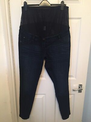 Next Skinny Over Bump Maternity Jeans Size 16R