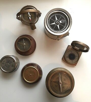 Variety Of Antique Compass  X7