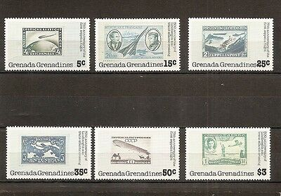 Grenada Grenadines 1978 SG265-70 6v set Aircraft/Aviation on stamps-1st Zeppelin