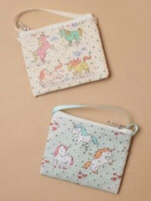 Pack Of 4 Unicorn Printed Design Purses With Long Strap, Mini Bag  : Sp-7005 Pk4