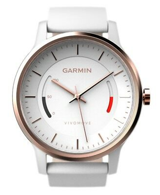 GARMIN VIVOMOVE Sport Activity Tracker Watch With Leather Band -  Rose Gold