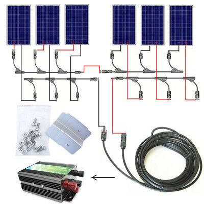 600W 24V off Grid Solar System 6pcs 100W Solar Panel & 45A Charge Controller RV