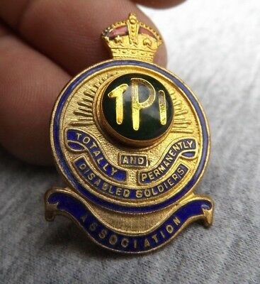Tasmanian Totally Permanently Disabled Soldiers Association enamel badge