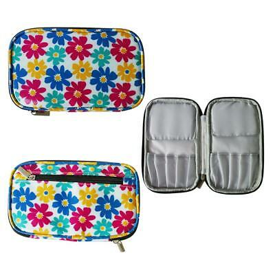 Sunflower Pattern Crochet Hook Needles Case Organizer Zipper Bag Storage Bag