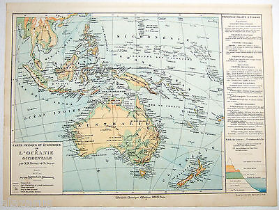 Original Physical & Economic Map of the Western Pacific by Drioux & Leroy 1884