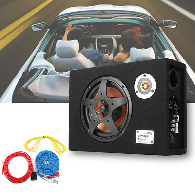 8'' 480W 12V Car Audio Subwoofer Bass Ultra-Thin Under-Seat Modified Amplifier