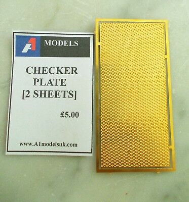 Etched Brass Checker Plate suitable for various projects