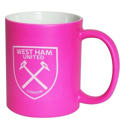 WEST HAM NEON MUG - Official West Ham United Pink Hot Mug! Xmas Gift