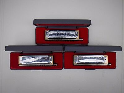 "Hohner Super Chromonica 260 Chromatic Harmonica ""c"" - Auction Is For All 3!!!"