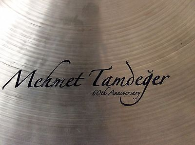 "20"" Istanbul Mehmet Tamdeger 60th Anniversary Ride Cymbal - rivets/sizzle"