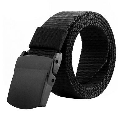 Outdoor Mens Military Canvas Plastic Buckle Belt Tactical Camping Equipment