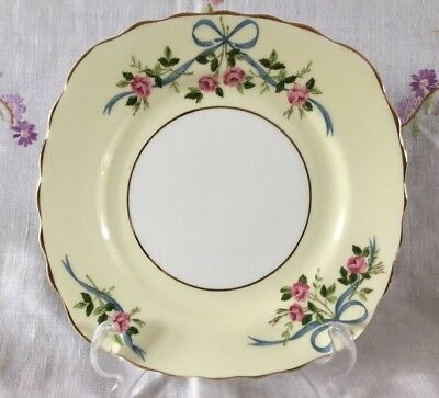 *gorgeous Vintage Colclough Ribbons And Bows Bone China Side Cake Tea Plate*
