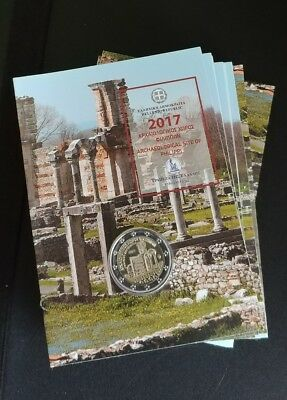 "2 € Greece 2017 ""Archeological site of Philippi"" Coin Card  Pre-Sale"