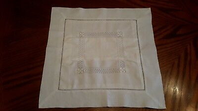 Vintage Small White Pillow Cover/Sham Crochet & Cutwork - Baby