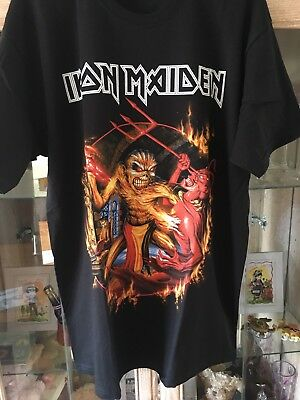 Iron Maiden Official 'The Book Of Souls' 2017 Tour GERMANY Event L T-Shirt Shirt