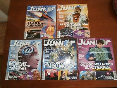Lot de 5 Science & vie junior n°246 - n°252 - n° 258 - n° 259 - n°279