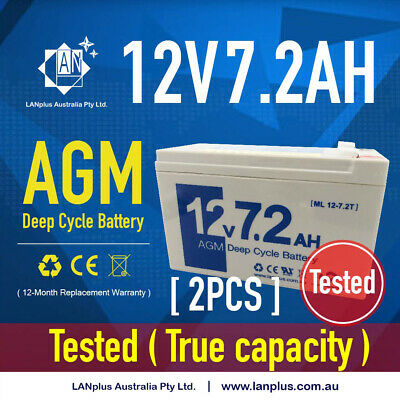 2x New 12v 7.2ah 7ah UPS SLA AGM Sealed Lead Acid Battery WP7-12 LP12-6.5 BP7-12