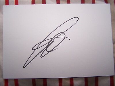 Paul Pogba Manchester United & France 6x4 Signed White Card
