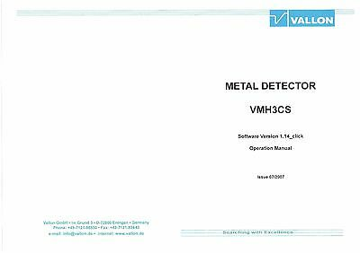 Full Colour Operation Manual for Vallon Army Metal/Mine Detector, VMH3CS
