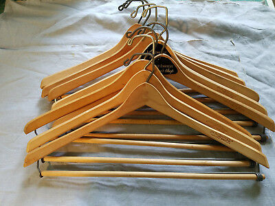 eight vintage wooden hangers Batts wishbone Grand Rapids, Michigan