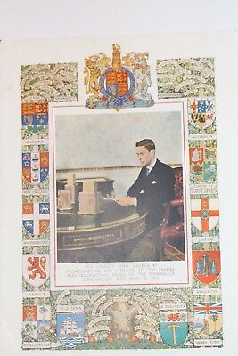 George V1 Broadcast Message To The Empire  Coronation 12Th May 1937
