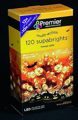 120 LED Superbright Multi Action ORANGE or WHITE CHRISTMAS lights