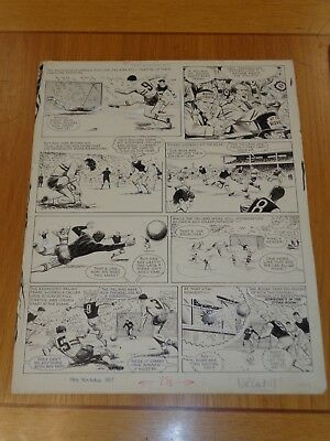 Tiger And Hurricane Roy Of The Rovers Original Comic Art