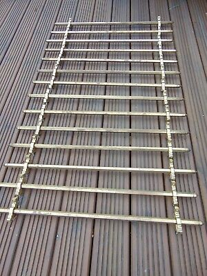 Set 14 Antique Reclaimed Solid Brass Stair Rods & Brackets - Fixed End Finials