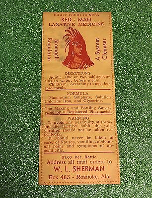 Vintage 1930s Unused Medicine Tonic Label /Prohibition labels/Advertising