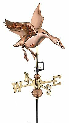 Good Directions 804PR Landing Duck Cottage Weathervane Polished Copper RoofMount