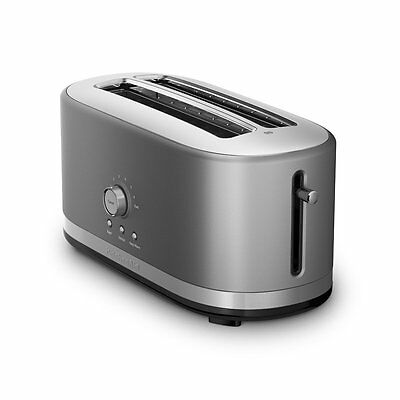 KitchenAid 4-Slice Long Slot Toaster with High Lift Lever, Contour Silver