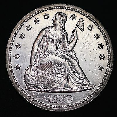 1869 Seated Liberty Dollar CHOICE UNC FREE SHIPPING E304 TLPX