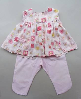 Vintage 1960's baby outfit pink mini rockabilly cotton age 3-4