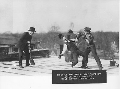 C G Conn Boxing Match On The Roof Aprox 1913 8 X 10 Photo