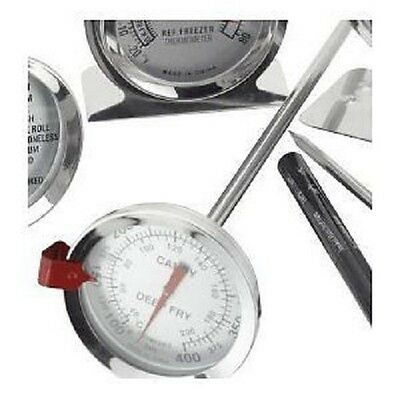 """JUDGE Sugar Jam Preserving Home Brew Chip Thermometer 12"""" 30cm Long Probe."""