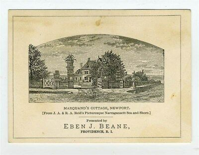 Eben J Beane Boots & Shoes Trade Card Providence Rhode Island 1800's
